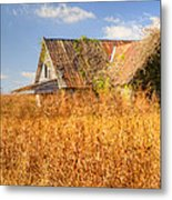 Abandoned Farmhouse In Field 3 Metal Print