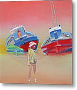 Abandoned Fishing Boats Tavira Metal Print