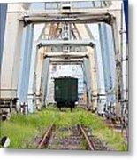 Abandoned Industrial Dock Metal Print