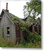 Abandoned Shed Metal Print
