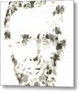 Abraham Lincoln Paint Drops Metal Print
