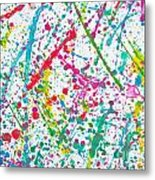 Abstract Color Splash Metal Print