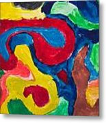 Abstract Colorful Painting Metal Print