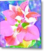 Abstract Colorful Plant Metal Print