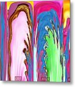 Abstract Emotional Stages  Confusion Disbelief Grief Anger Walkaway Metal Print