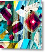 Abstract Geometric Pattern Background Metal Print