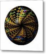Abstract Globe Metal Print