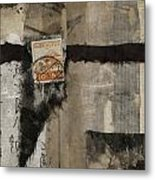 Abstract Japanese Collage Metal Print