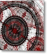Abstract Mechanical Fractal Metal Print