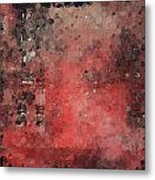 Abstract Red Digital Print Metal Print