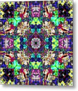 Abstract Symmetry Of Colors Metal Print