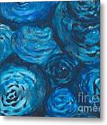 Abstract Watercolour Painting Metal Print