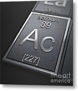 Actinium Chemical Element Metal Print