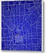 Adelaide Street Map - Adelaide Australia Road Map Art On Colored Metal Print