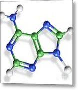 Adenine Molecule, Artwork Metal Print