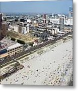 Aerial Of Downtown Atlantic City Metal Print
