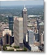 Aerial Of Downtown Indianapolis Indiana Metal Print