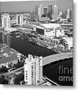 Aerial Of Downtown Tampa And Harbour Island Metal Print