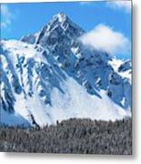 Aerial Of Mount Sneffels With Snow Metal Print