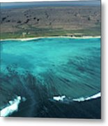 Aerial Of Ningaloo Reef And Cape Range Metal Print