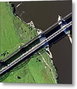 Aerial Photo Of The Railway Bridge Metal Print