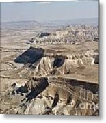 1-aerial Photography Of The Negev  Metal Print
