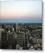 Aerial View Of Melbourne Metal Print