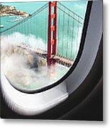 Aerial View Of San Francisco Golden Metal Print