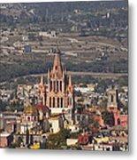 Aerial View Of San Miguel De Allende Metal Print