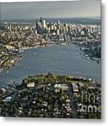 Aerial View Of Seattle Metal Print