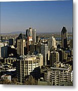 Aerial View Of Skyscrapers In A City Metal Print