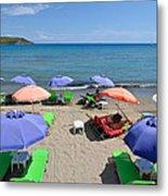 Agia Marina Beach Metal Print