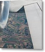 Airplane Wing And Turbine Metal Print