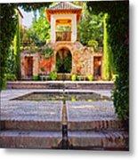 Alhambra In Granada Metal Print