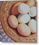 All My Eggs In One Basket Metal Print