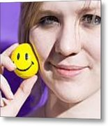 All Smiling Woman Metal Print