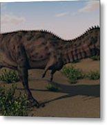 Alluring Majungasaurus In Swamp Metal Print