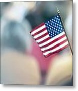 American Flag Metal Print by Alex Grichenko