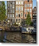 Amsterdam - Old Houses At The Herengracht Metal Print