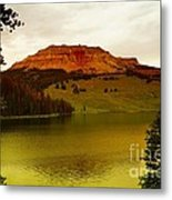 An Alpine Lake Metal Print