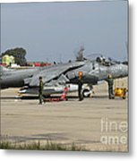 An Av-8b Harrier II Of The Spanish Navy Metal Print