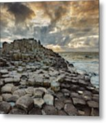 An Evening View Of The Giants Causeway Metal Print