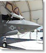 An F-35b Lightning II During Preflight Metal Print