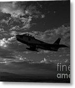 An F-86f Sabre In Flight Near Glendale Metal Print