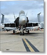 An Fa-18d Hornet On The Ramp At Marine Metal Print