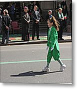 An Irish Lassie Marching In The 2009 St. Patrick Day Parade Metal Print