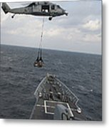An Mh-60s Sea Hawk Helicopter Delivers Metal Print