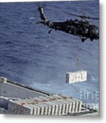 An Mh-60s Sea Hawk Helicopter Picks Metal Print