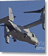 An Mv-22b Osprey Prepares For Landing Metal Print