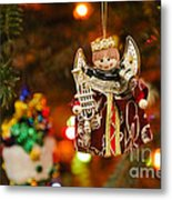 Angel Christmas Ornament Metal Print